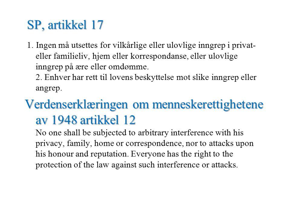 SP, artikkel 17 1.