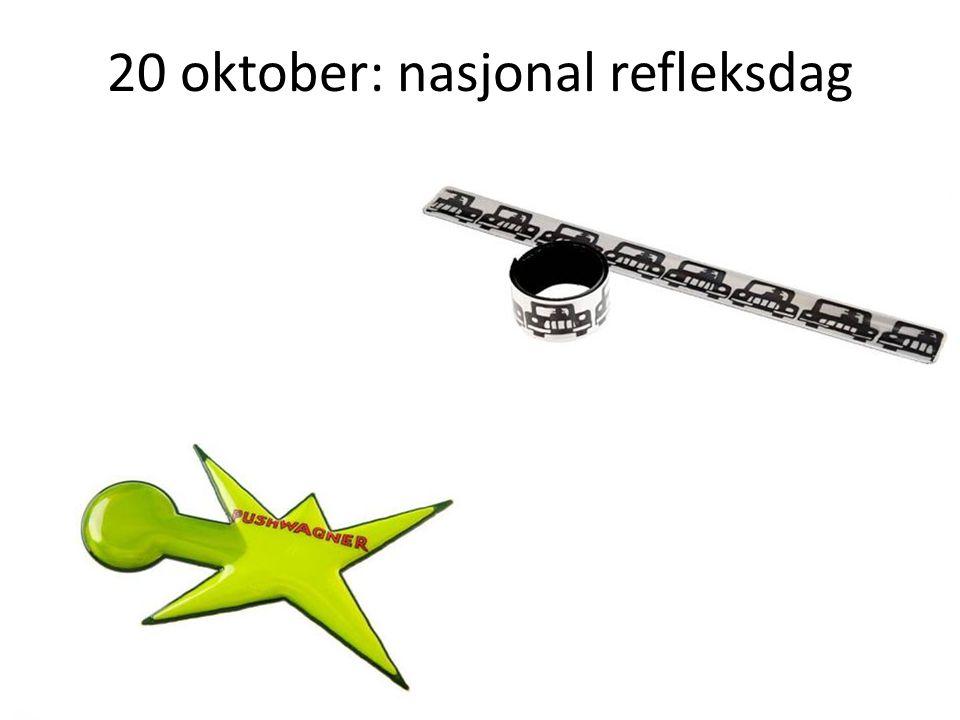 20 oktober: nasjonal refleksdag