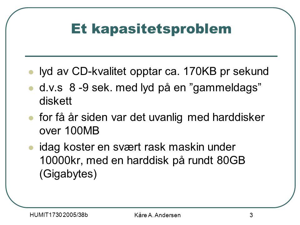 HUMIT1730 2005/38b Kåre A.Andersen 14 Annet Flere detaljer rundt bruk av lyd (bl.a.