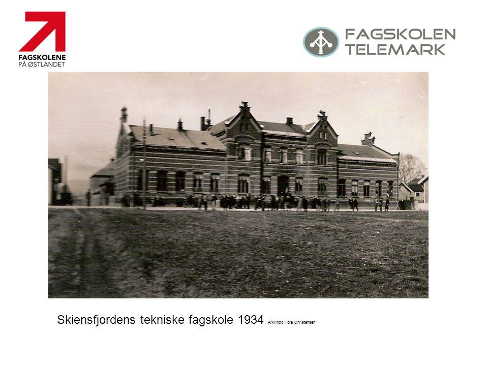 Skiensfjordens tekniske fagskole 1934 Arkivfoto Tore Christensen