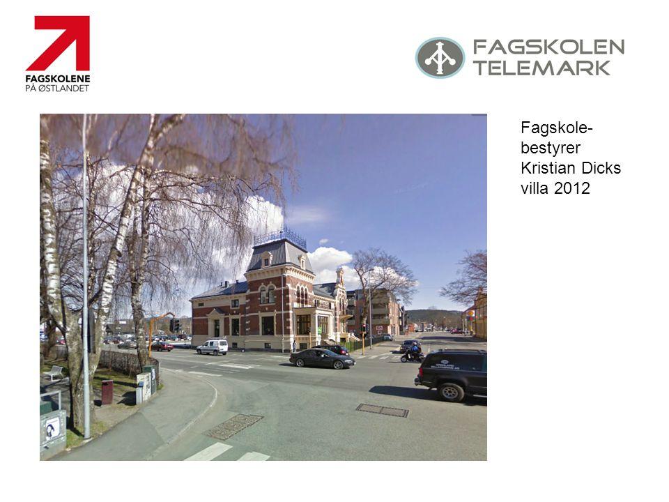 Fagskole- bestyrer Kristian Dicks villa 2012