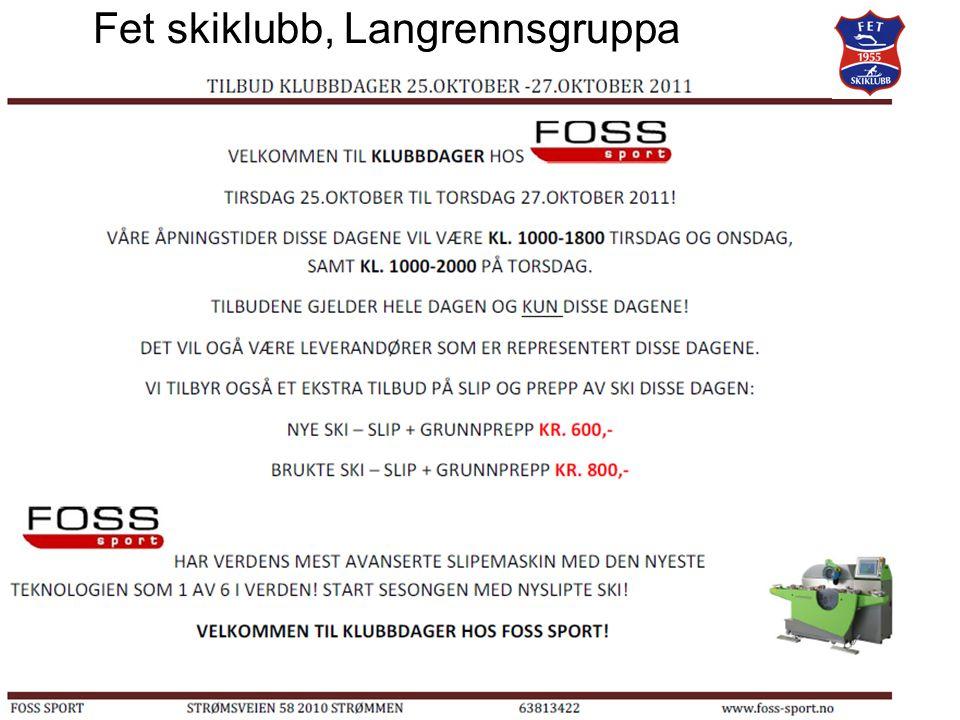 Fet skiklubb, Langrennsgruppa