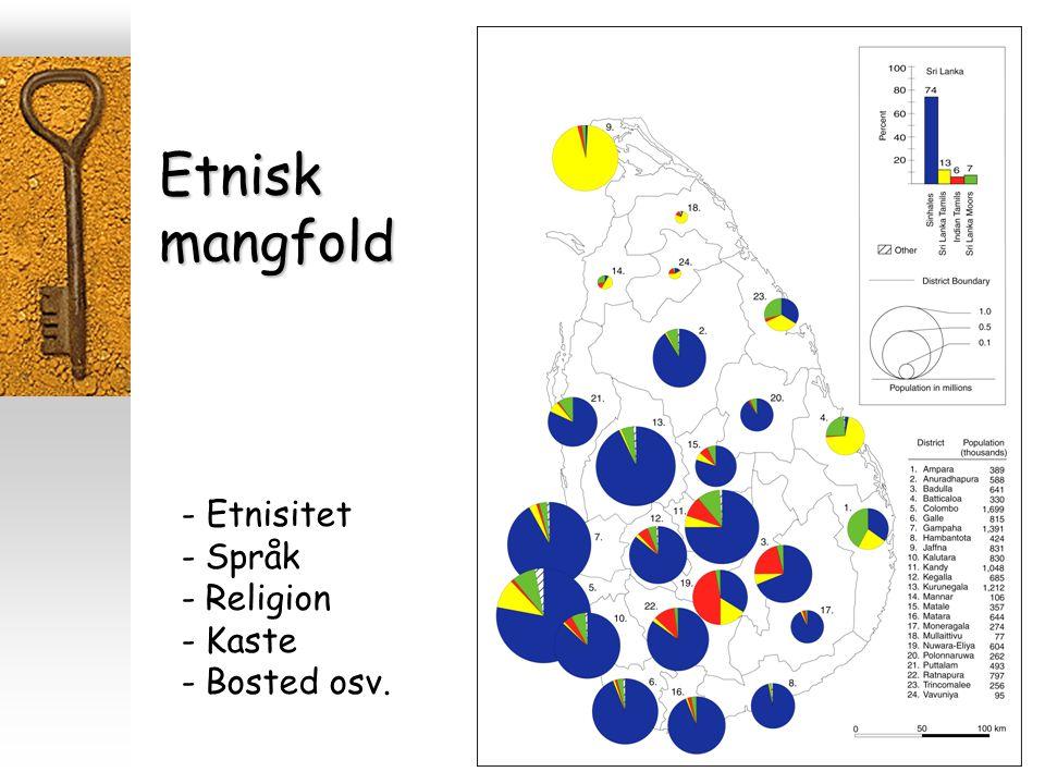 Etnisk mangfold - Etnisitet - Språk - Religion - Kaste - Bosted osv.