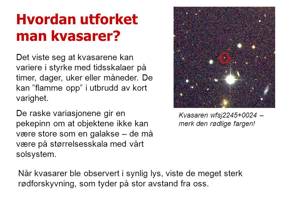 Hvordan utforket man kvasarer.