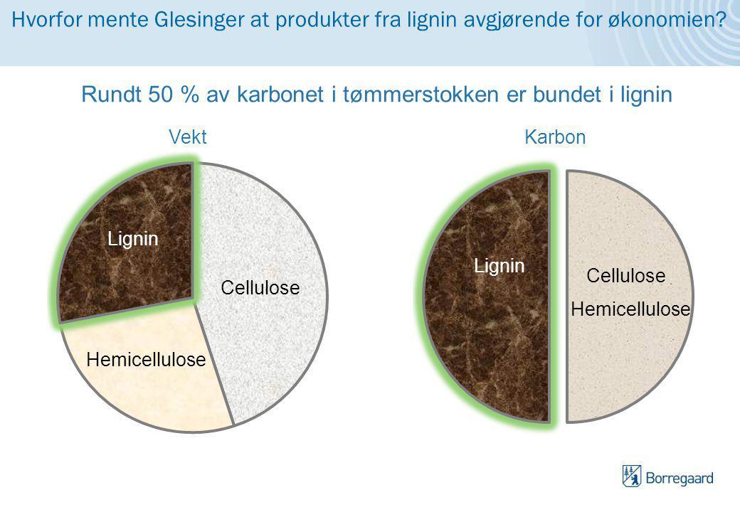 Hvorfor mente Glesinger at produkter fra lignin avgjørende for økonomien.