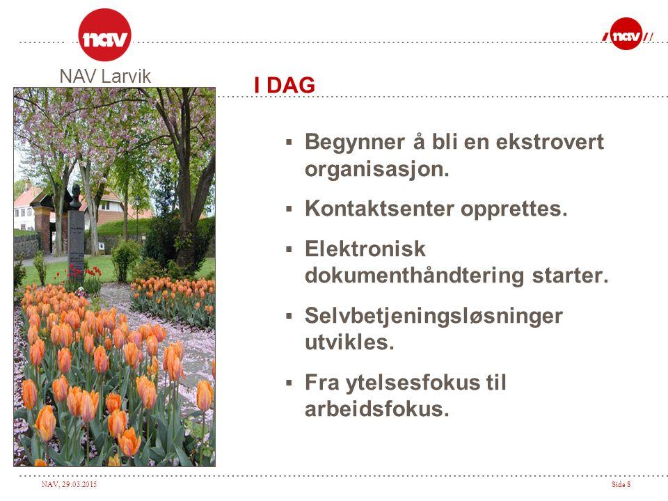 NAV, 29.03.2015Side 19 Spørsmål NAV Larvik