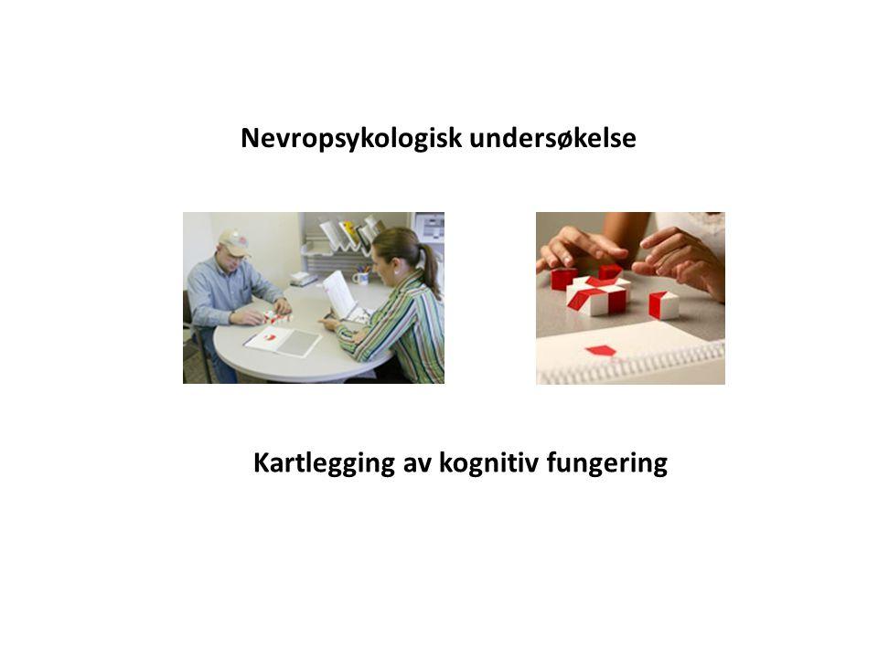 Nevropsykologisk undersøkelse Kartlegging av kognitiv fungering