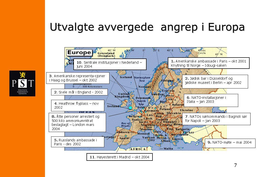 7 Utvalgte avvergede angrep i Europa