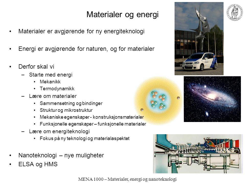 MENA 1000 – Materialer, energi og nanoteknologi Nanoteknologi Naturen har alltid hatt nanoskopiske strukturer –Mineralsk Bergarter, leire, jord –Biolo