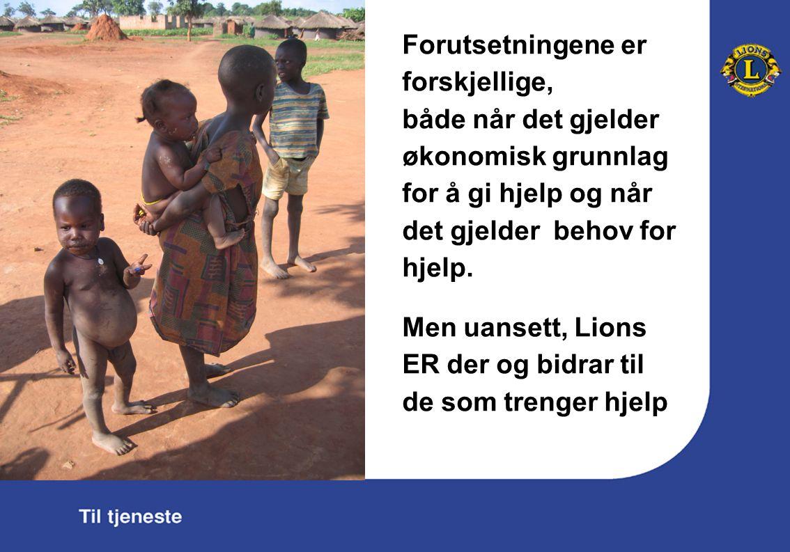 Forutsetningene er forskjellige, både når det gjelder økonomisk grunnlag for å gi hjelp og når det gjelder behov for hjelp.