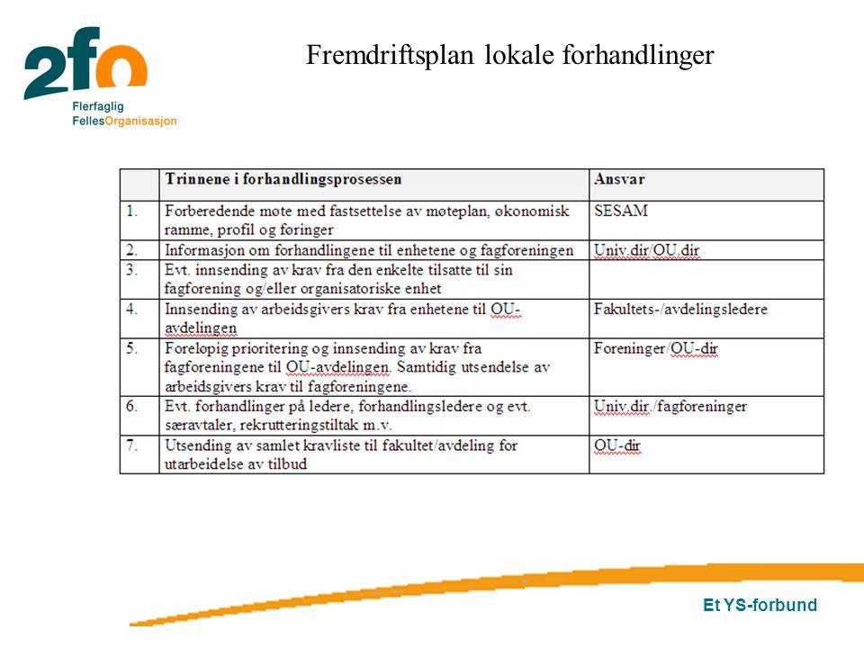 Fremdriftsplan lokale forhandlinger