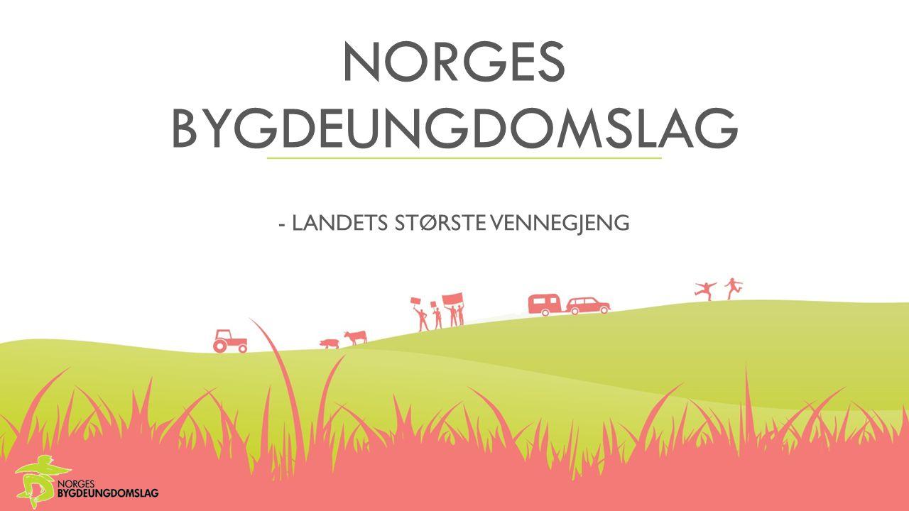 NORGES BYGDEUNGDOMSLAG - LANDETS STØRSTE VENNEGJENG