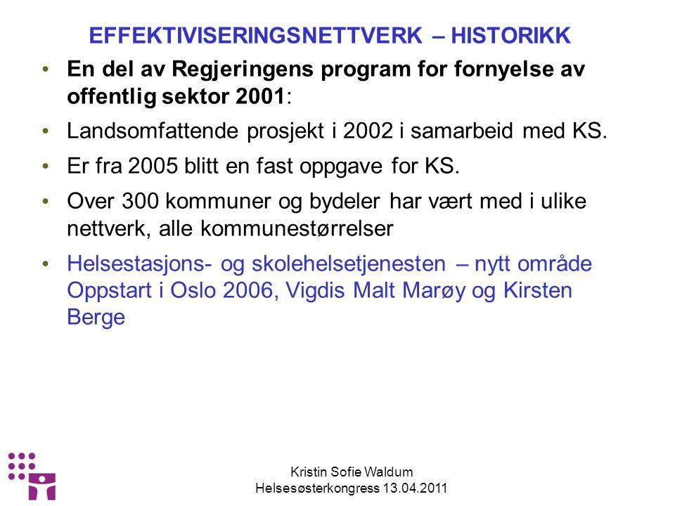 Kristin Sofie Waldum Helsesøsterkongress 13.04.2011 VI DISKUTERER FAG UTFRA TALL