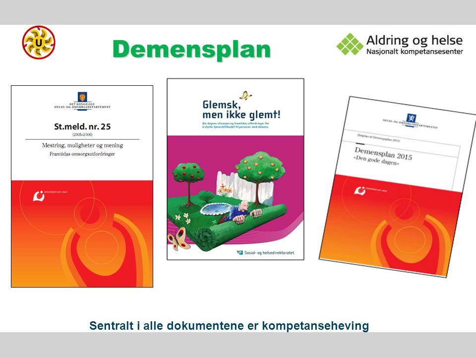 Demens Demens og Alzheimers sykdom Ulike demenssykd.