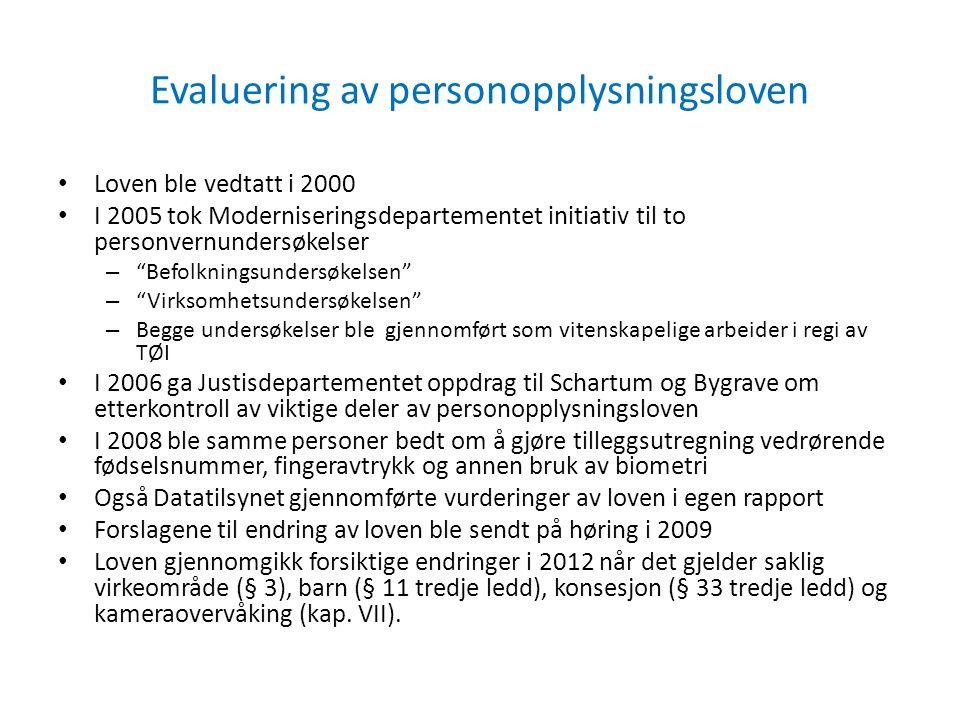 Noen resultater fra undersøkelsene i 2005
