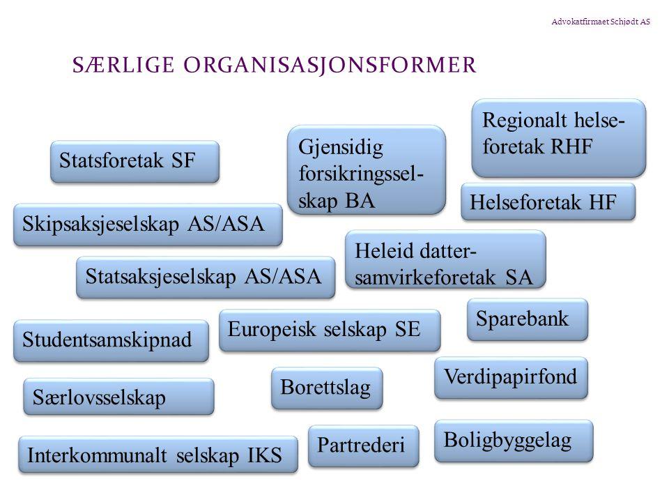Advokatfirmaet Schjødt AS FORELESNINGER I SELSKAPSRETT 3.