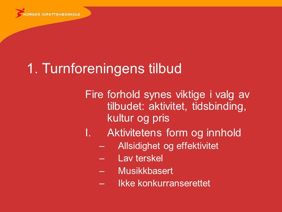 1.Turnforeningens tilbud forts.