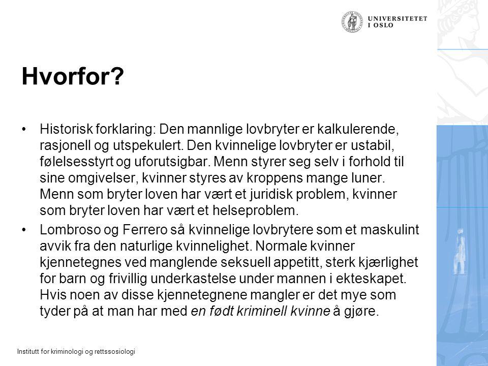 Institutt for kriminologi og rettssosiologi Løsningene hos Åkerstrøm Motopartens initiativ = jeg er uten skyld.