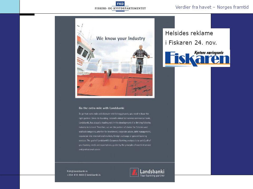Helsides reklame i Fiskaren 24. nov.