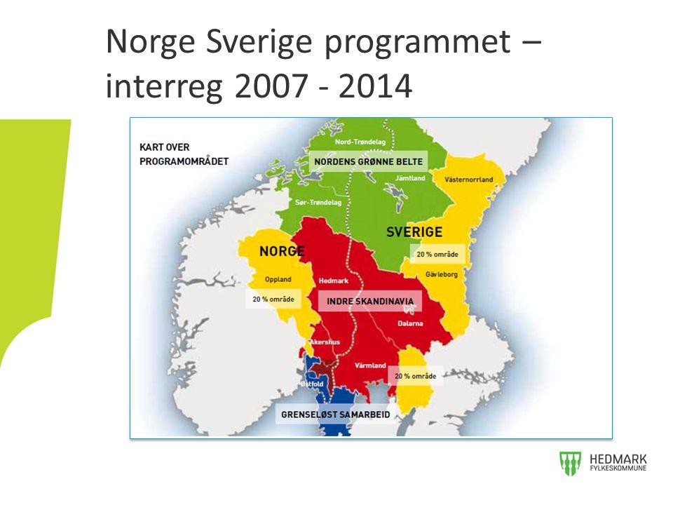 Norge Sverige programmet – interreg 2007 - 2014