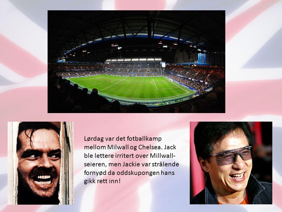 Lørdag var det fotballkamp mellom Milwall og Chelsea.