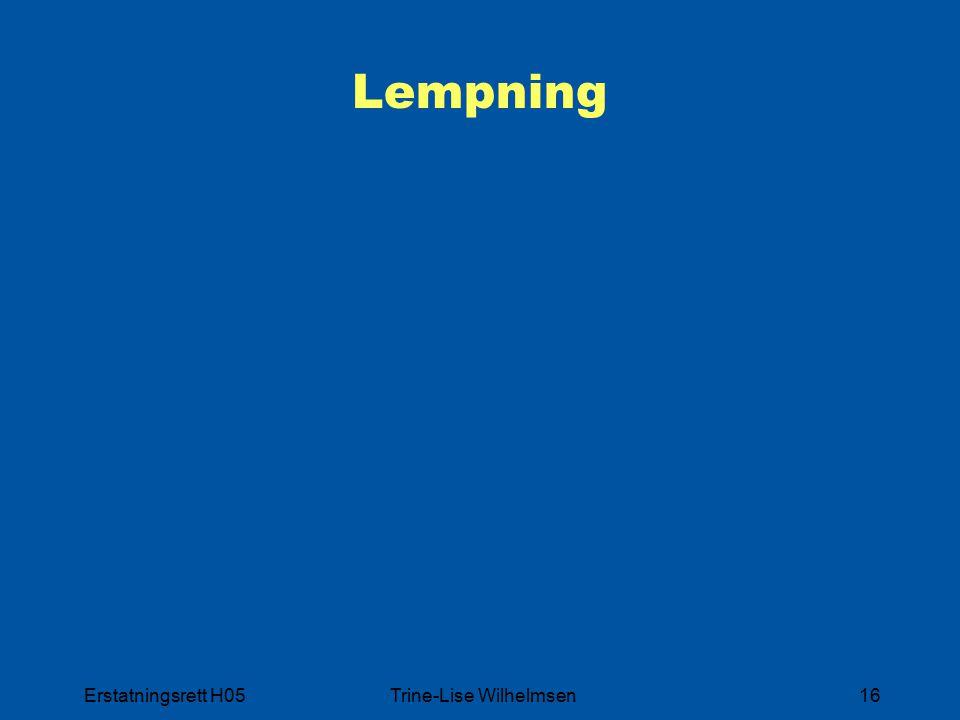 Erstatningsrett H05Trine-Lise Wilhelmsen16 Lempning
