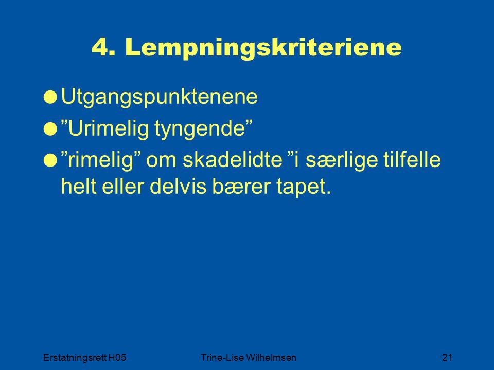 Erstatningsrett H05Trine-Lise Wilhelmsen21 4.