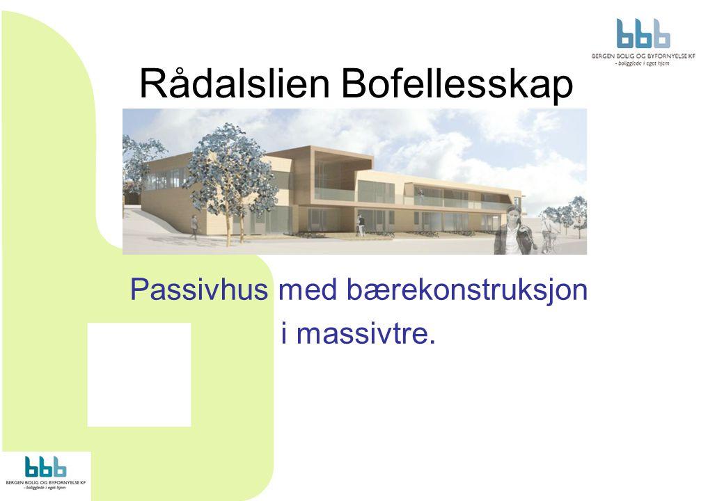 Rådalslien Bofellesskap Passivhus med bærekonstruksjon i massivtre.