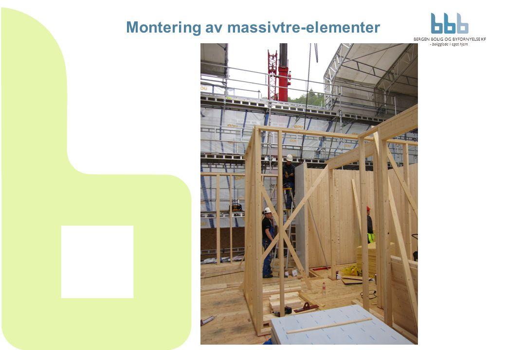 Montering av massivtre-elementer