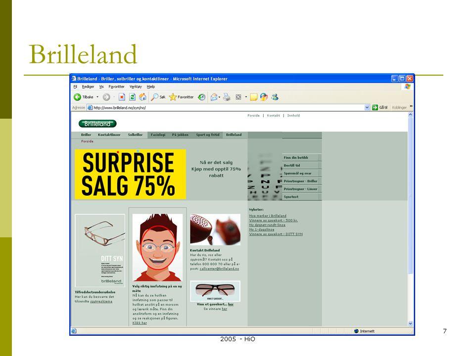 Systemutvikling LO135A - Kirsten Ribu 2005 - HiO 8 Et eksempel: (et modifisert Brilleland)  Optikerkjeden Zebra har butikker i hele Norge, og ønsker et timebestillingssystem på Internett.