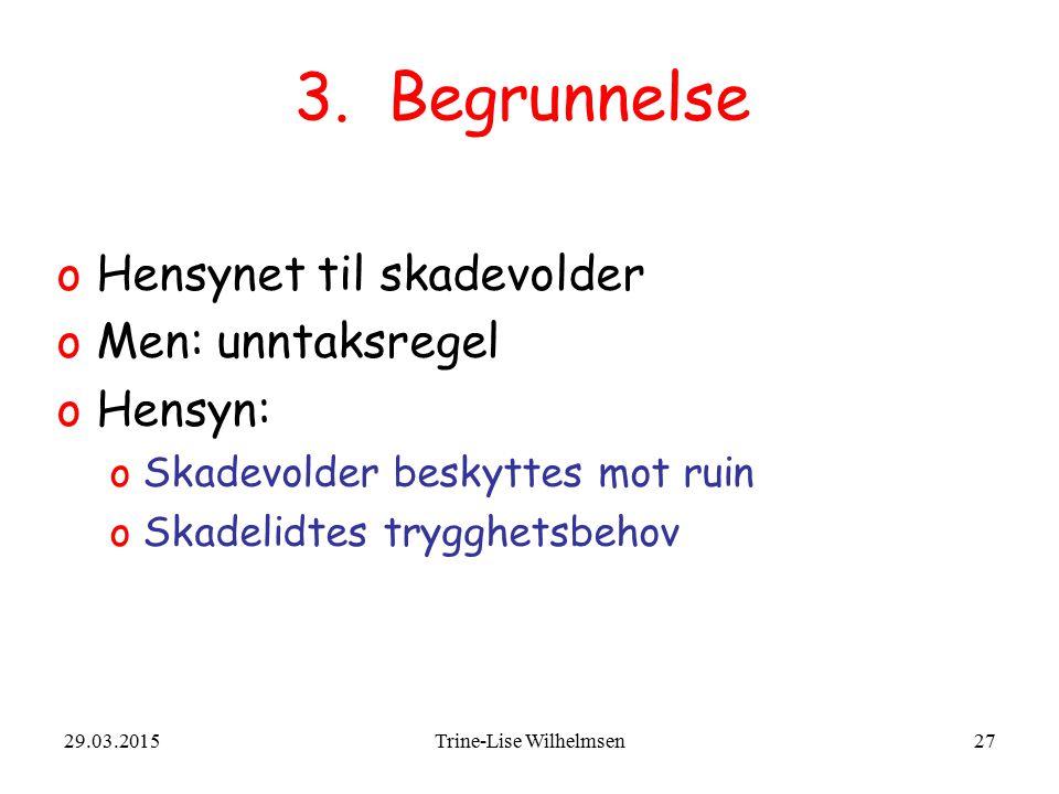 29.03.2015Trine-Lise Wilhelmsen27 3.