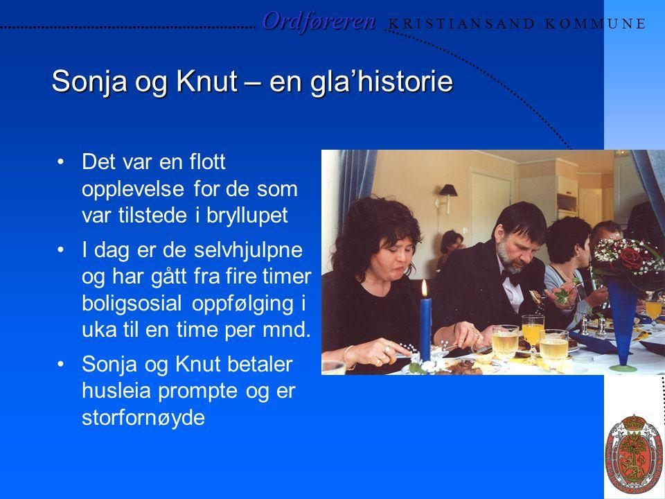 Ordføreren Ordføreren K R I S T I A N S A N D K O M M U N E Sonja og Knut – en gla'historie Det var en flott opplevelse for de som var tilstede i bryl