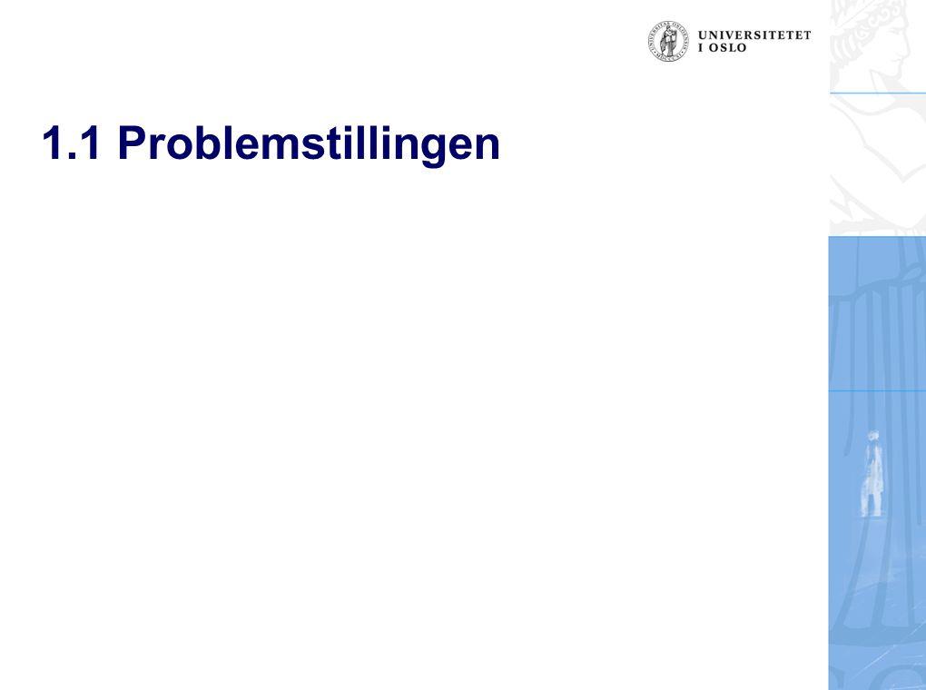 1.1 Problemstillingen