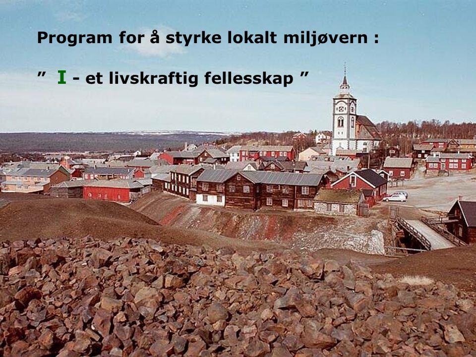 """6 Program for å styrke lokalt miljøvern : """" I - et livskraftig fellesskap """""""