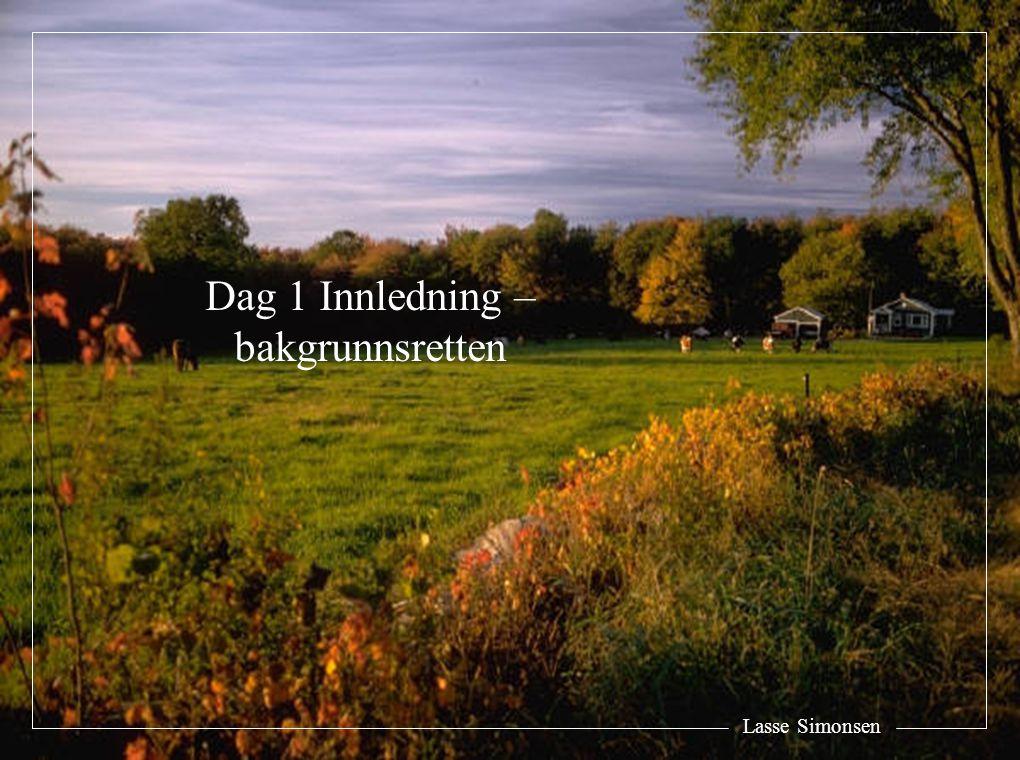 Lasse Simonsen Dag 1 Innledning – bakgrunnsretten