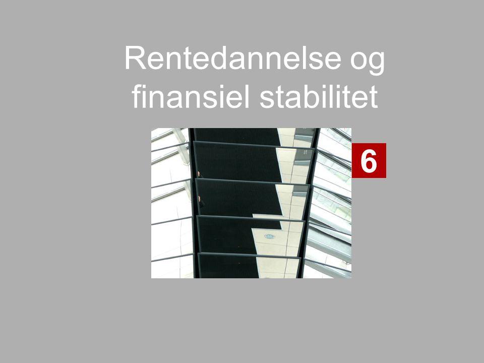 Rentedannelse og finansiel stabilitet 6
