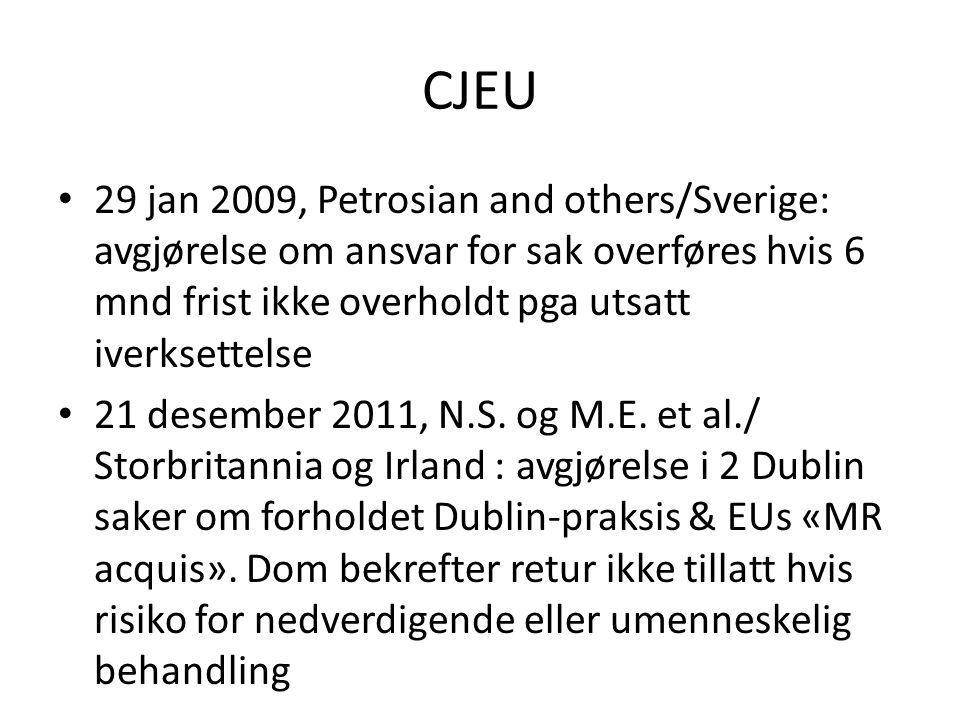 CJEU 29 jan 2009, Petrosian and others/Sverige: avgjørelse om ansvar for sak overføres hvis 6 mnd frist ikke overholdt pga utsatt iverksettelse 21 des