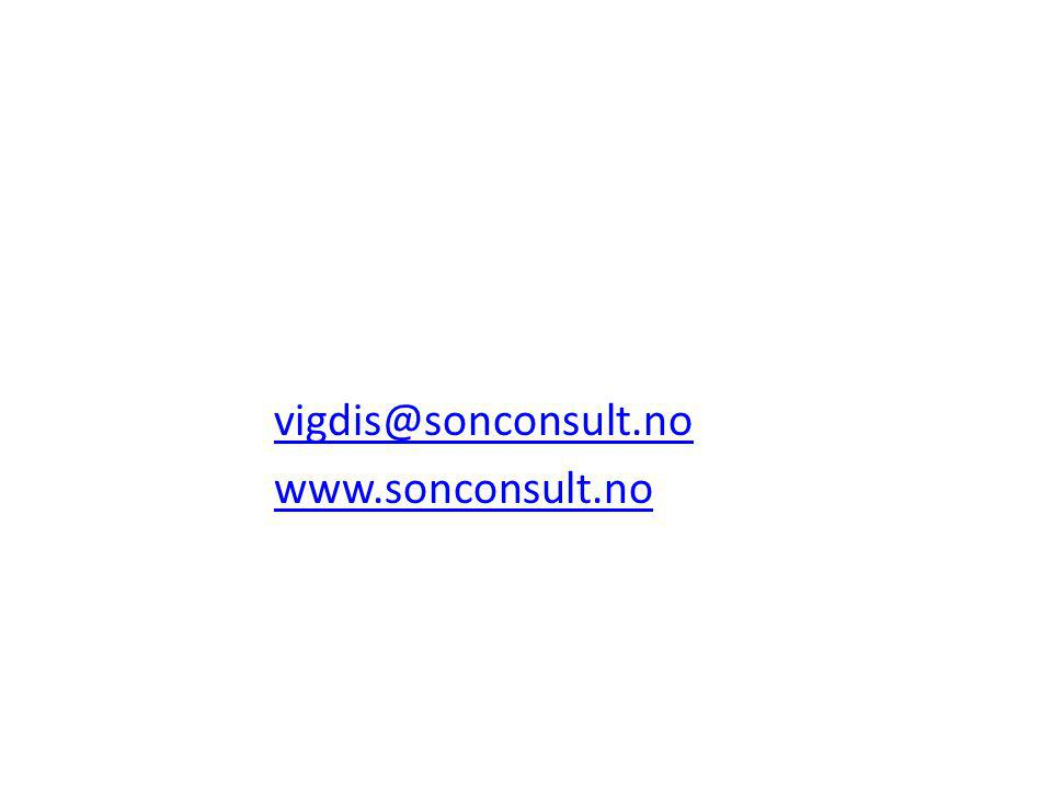 vigdis@sonconsult.no www.sonconsult.no