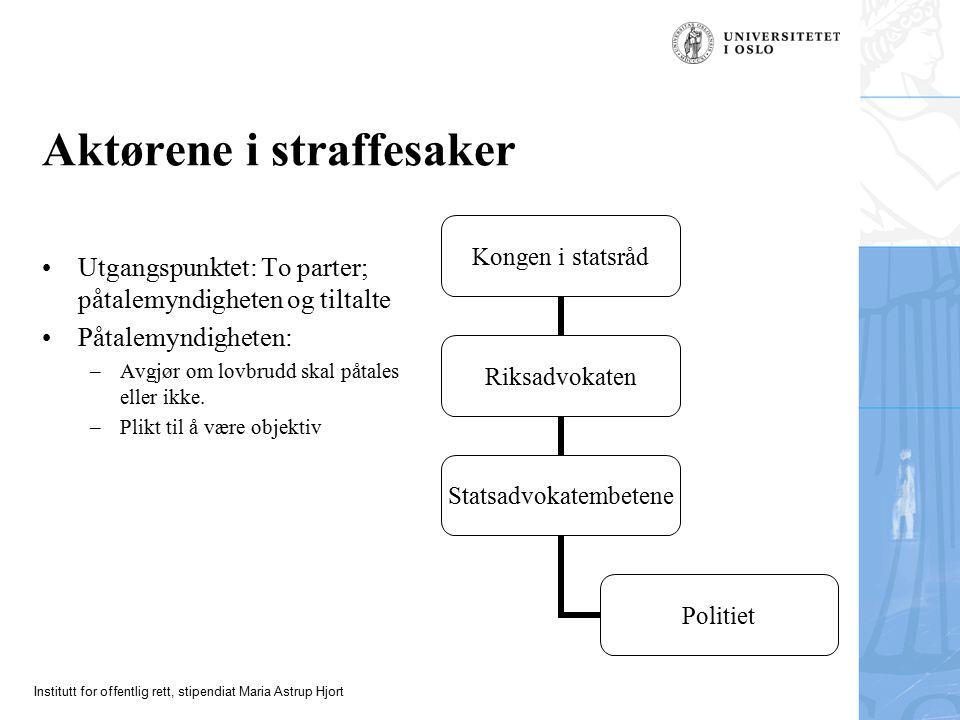 Institutt for offentlig rett, stipendiat Maria Astrup Hjort Forts.