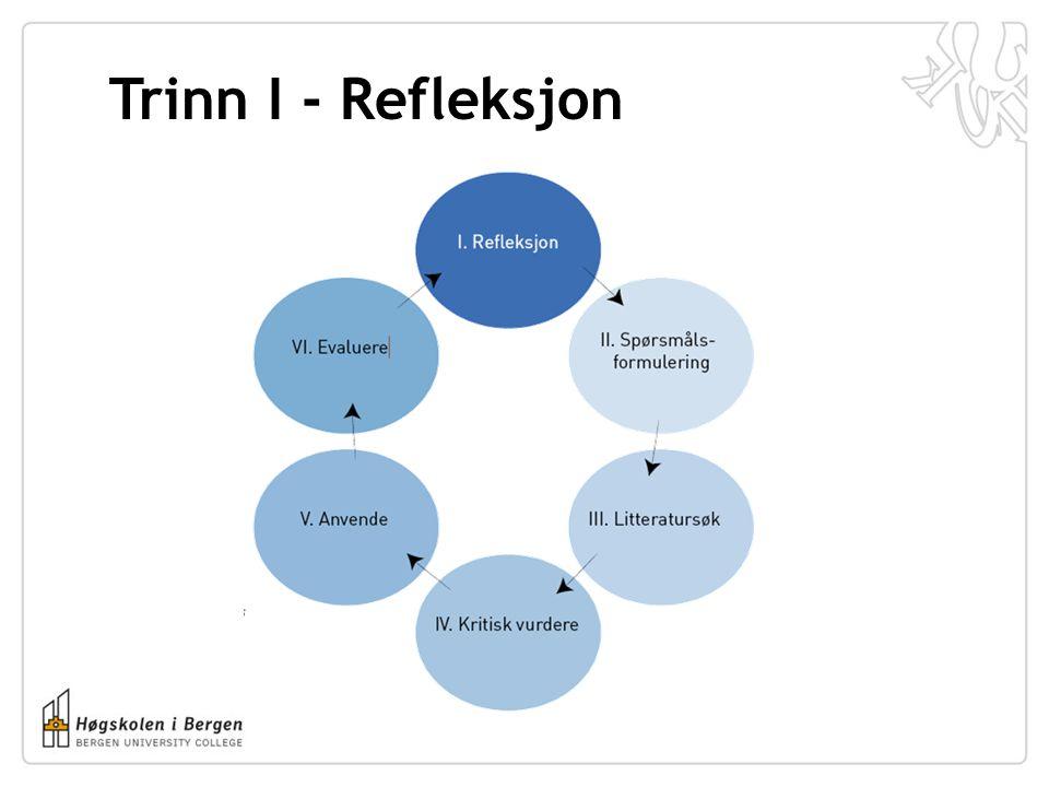 Trinn I - Refleksjon
