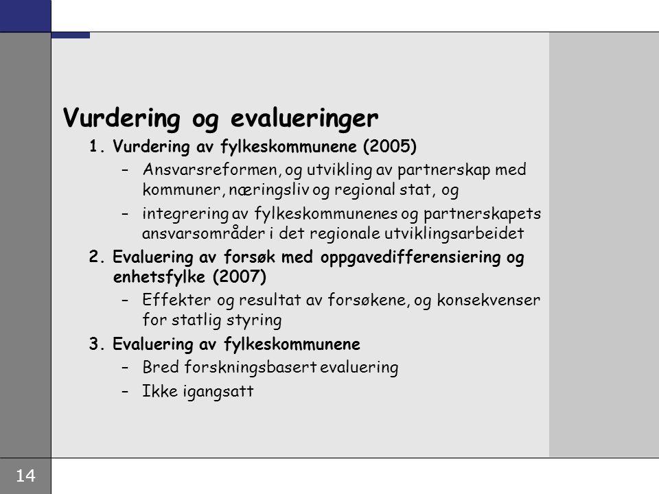 14 Vurdering og evalueringer 1.