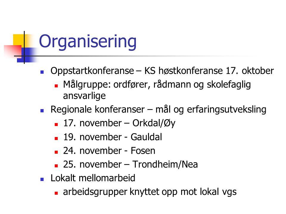 Organisering Oppstartkonferanse – KS høstkonferanse 17.