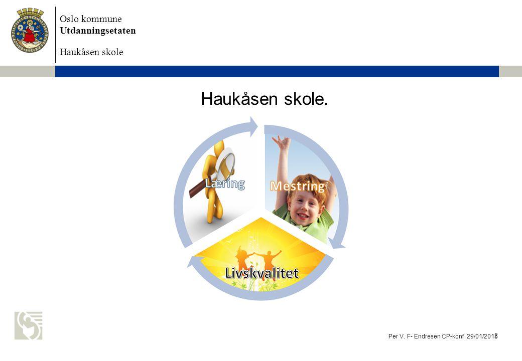 Oslo kommune Utdanningsetaten Haukåsen skole Haukåsen skole. Per V. F- Endresen CP-konf. 29/01/2015 2