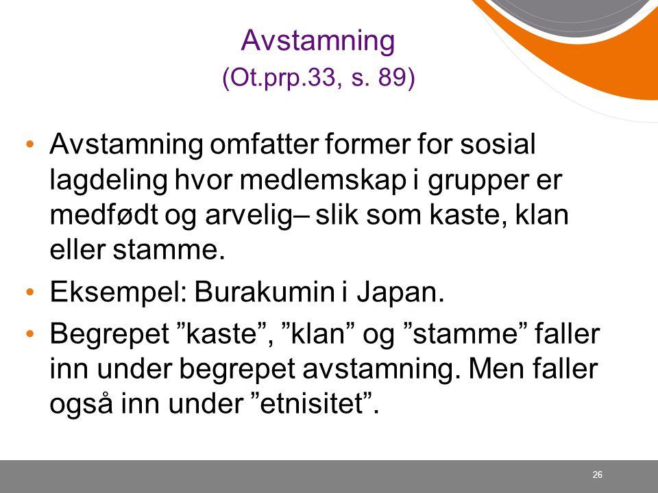 26 Avstamning (Ot.prp.33, s.