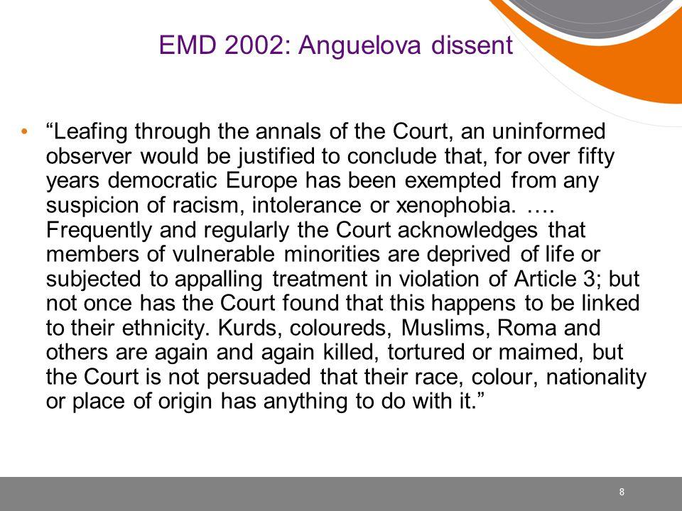 9 Hvorfor er det vanskelig å vinne en sak om etnisk diskriminering.