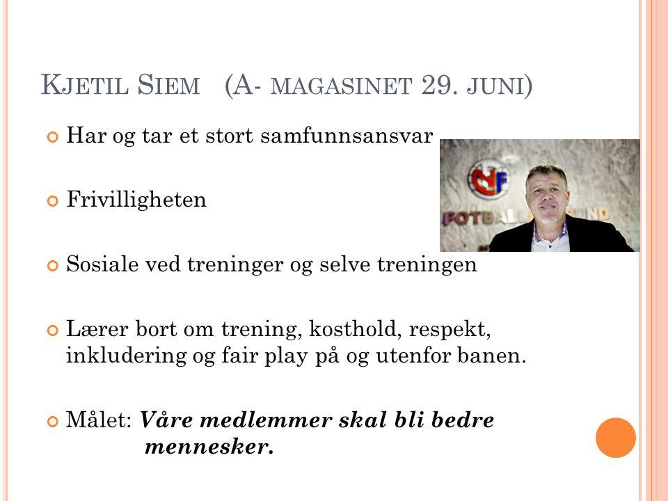 K JETIL S IEM (A- MAGASINET 29.