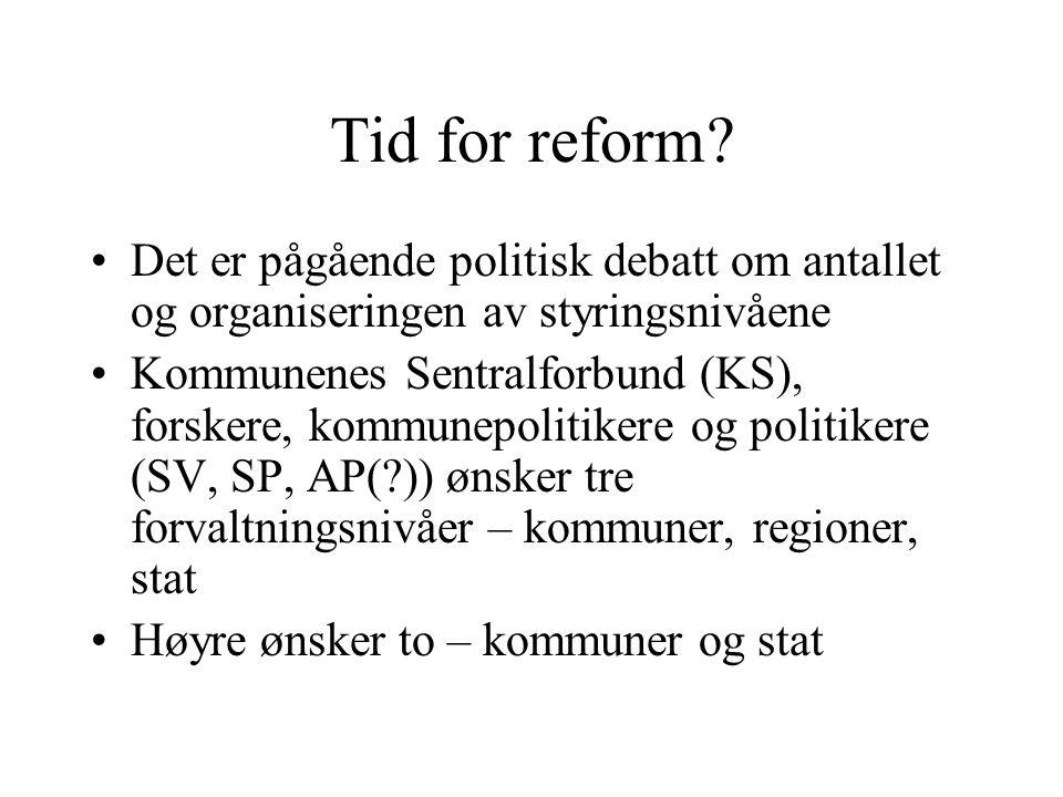 Tid for reform.
