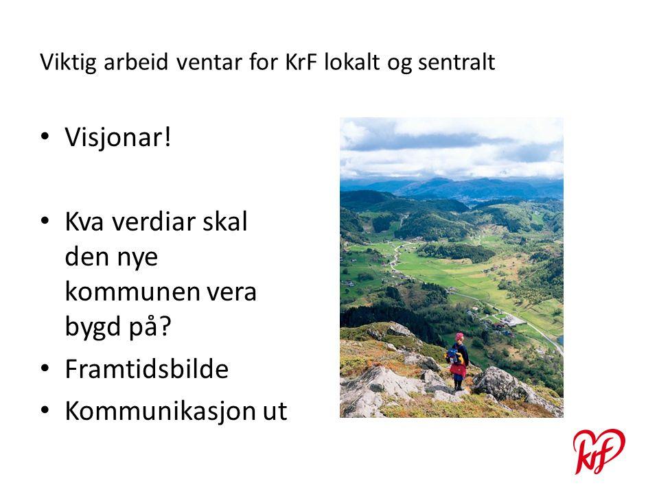 Viktig arbeid ventar for KrF lokalt og sentralt Visjonar.