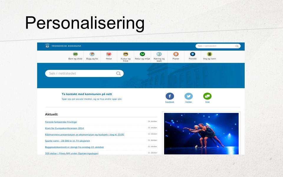 Personalisering