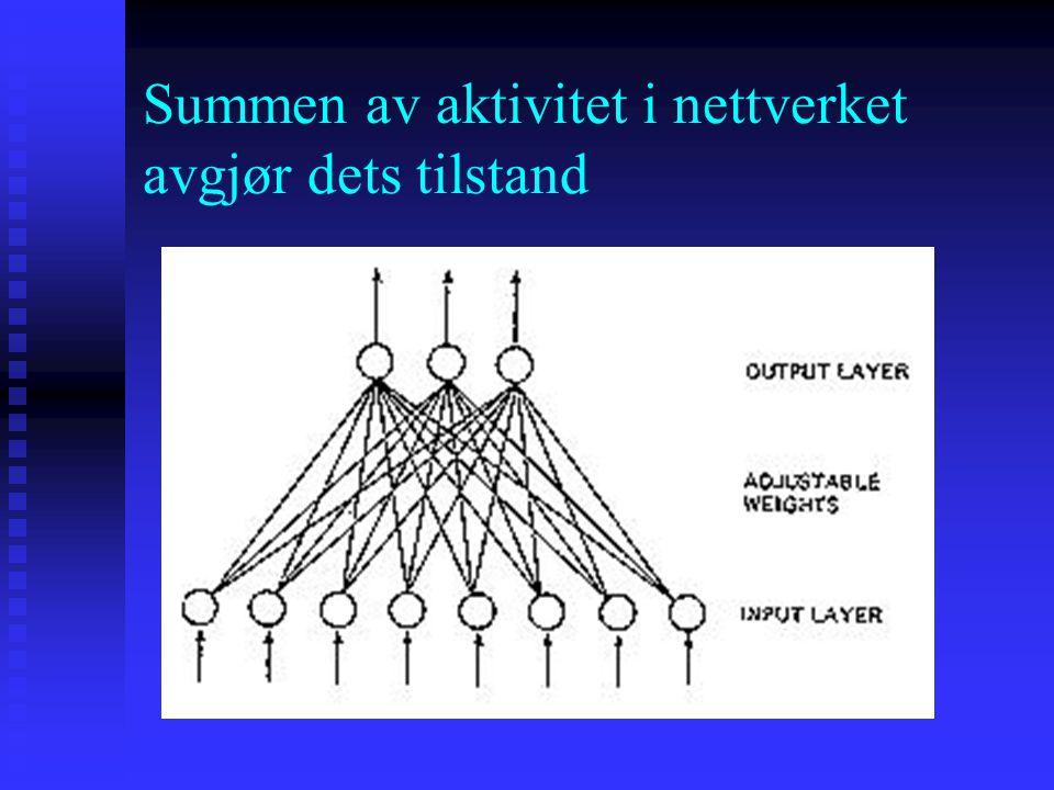 Summen av aktivitet i nettverket avgjør dets tilstand